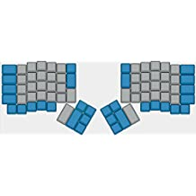 YMDK XDA Blue Gray Blank Full Keyset for MX Mechanical Keyboard Steelseries Ergodox Filco Cosair Noppoo Planck IKBC Vortex core (Ergodox)