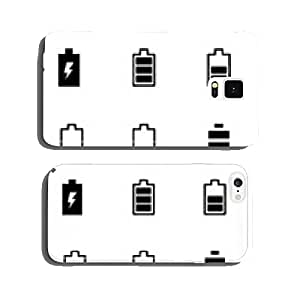 Vector black battery icon set cell phone cover case Samsung S5