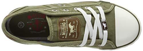 777 302 Vert Femme Sneakers khaki Basses 1099 777 Mustang Tzx5EPqwYW