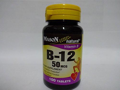 Mcg Tabs 60 50 (Mason Vitamins B 12 50 Mcg Tablets, 60 Count)