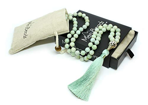 Premium Mala Beads Necklace - Amazonite Mala Necklace - Japa Mala - Mala Necklace - Meditation Beads - Tassel Necklace - 108 Mala Beads Meditation
