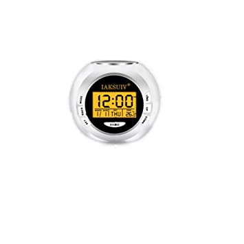 ZHAOHUIFANG Despertador Luz Nocturna LCD Color Colorido Despertador Sonido Natural Reloj Digital Electrónico Calendario Electrónico Luz De Reloj: Amazon.es: ...