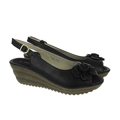 Heavenly Feet Sandalias de Renee 2 Negro Negro