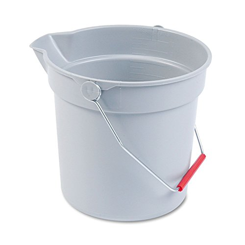 Rubbermaid Commercial 2963-GRAY 10Qt Round Brute Bucket - Gray Bucket
