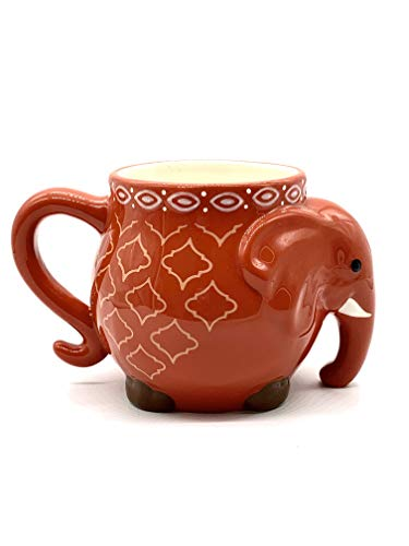 Elephant Colorful Coffee Tea Cup Mug 17.5oz (Orange (one piece))