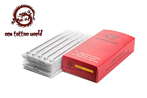 One Tattoo World 50pcs 7M1 Disposable Sterile Tattoo Needles 7 Mag Magnum OTW-50-7M1.1 from One Tattoo World