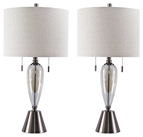 Champagne Light One Table Lamp (Ashley Furniture Signature Design - Maizah Table Lamps - Glass and Metal - Champagne)