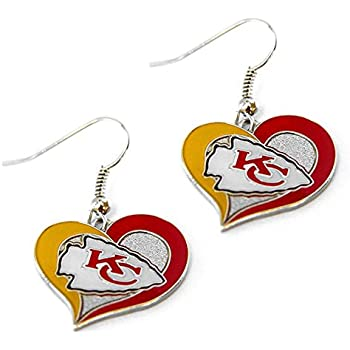 Aminco NFL Swirl Heart Earrings