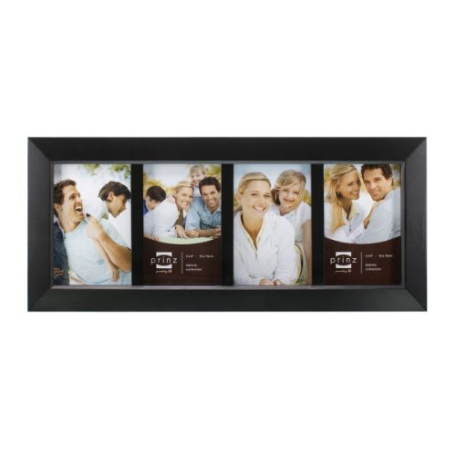 Prinz 4-Opening Dakota Black Wood Collage frame for 4-Inch b