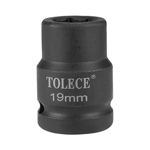 uxcell 3/4-inch Drive 19mm 6-Point Shallow Impact Socket, Cr-Mo Steel