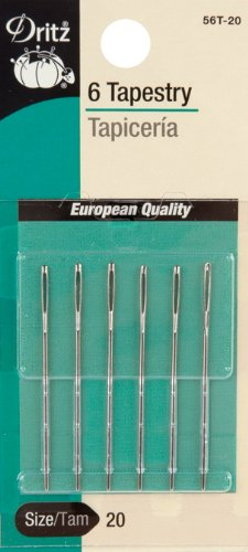 Dritz 6-Piece Tapestry Hand Needles, Size - Star Embroidery Point