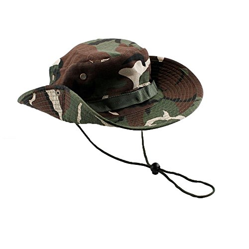 Bucket Hat Boonie Hunting Fishing Outdoor Men Cap Washed Cotton NEW W/ STRINGS, 40% polyester and 60% cotton Material, Boonie Style Hat (Green - The Avenue Melbourne