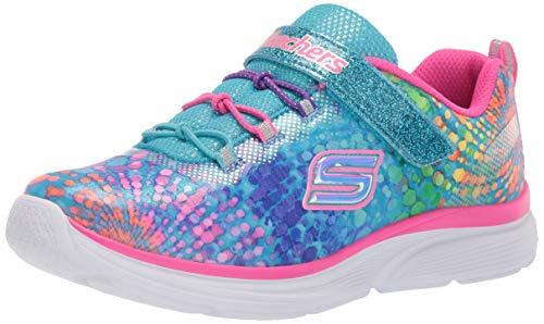 Skechers Kids Girls' Wavy Lites-Dazzle Blast Sneaker, Multi, 10 Medium US -