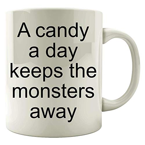 - A candy a day keeps the monsters away - Colored Mug