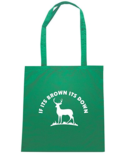 T-Shirtshock - Bolsa para la compra FUN0878 brown down decal 01 00988 Verde