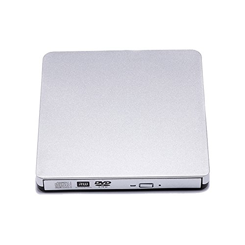 YAHEY-External-CD-Drive-USB-20-CD-Optical-Drive-DVD-Burner-ReaderWriter-DVD-RW-Drive-for-Mac-book-Pro-and-laptop-for-Mac-Windows-2000XPVistaWin-7-Win-8Win-10-Silver