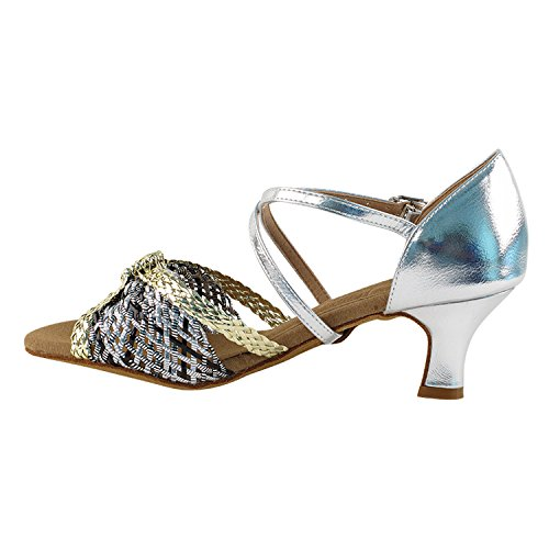 Salsa Silver Heel Dance Dress Shades of Shoes Gold amp; Women Pigeon Shoes Swing S92309 Latin Party Ballroom Art Available by Practice Tango Collection 50 Mid Theather Gold Party Vegan wqY0T0f