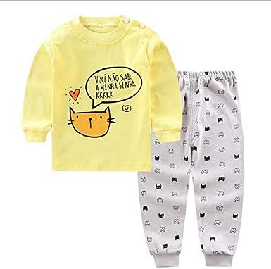 XM-Amigo 3Set//Pack Impression de Dessin anim/é b/éb/é Filles Coton Pyjama B/éb/é Coton Pyjama Four Seasons sous-v/êtements Ensembles Enfants