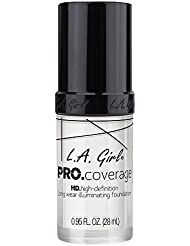 L.A. Girl Pro Coverage Liquid Foundation, White, 0.95 Fluid Ounce