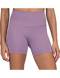 Yogalicious Ultra Soft Lightweight Hi Rise Shorts - High Waist Yoga Shorts