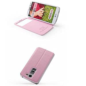 KALAIDENG Islandia II Series Funda de cuero para LG G2 MINI (Color: rosa)