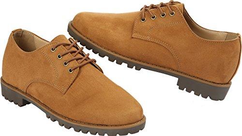 Gadea-023 Heren Klassieke 4-gaats Tall-up Loafers Schoenen Camel