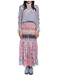 Women'S Raspberry Multi Paisley Peasant Skirt