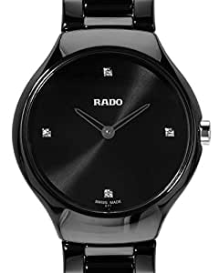 Amazon.com: Rado True Thinline Black Dial Black Ceramic ...
