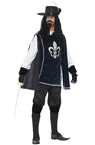 Smiffy's Men's Musketeer Male Costume, Multi, Medium