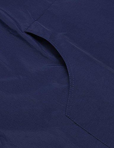 Imperméable Capuche Casual Bleu Pluie Marine Soteer Veste Femme Cape De À w4cqXU1y