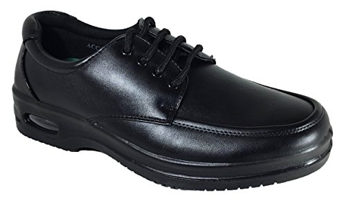 Mens Oil Resistant Anti Slip Restaurant Working Shoes With Air (12 D(M) US, Lace - Of Fashion Outlets Philadelphia