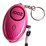 Personal Alarm, JDDZ 140 db Safe Siren Song Emergency Self Defense Protection Device Anti-Rape/Anti-Theft Security with Mini LED Flashlight for Women, Kids and Elderly (Pink)