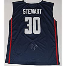 BREANNA STEWART signed (UCONN HUSKIES) basketball jersey *SEATTLE STORM* W/COA - Autographed College Basketballs