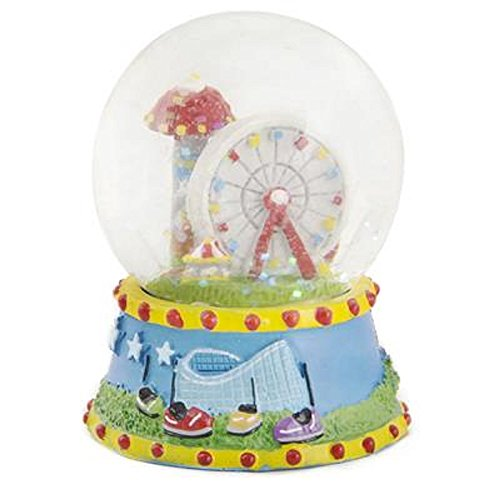 - 45MM Amusement Park Water Globe, Multicolored. Two Pieces.