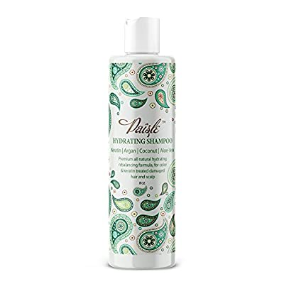 Shampoo For Keratin Treated Hair Sulfate Free Color Treated Hair Care - NATURAL Aloe Vera Shampoo With Coconut Oil Keratin Protein Argan oil For Damaged Hair Moisturizing & Hydrating For Women & Men