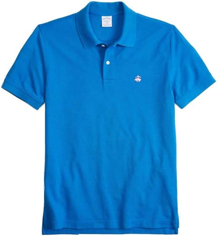 BROOKS BROTHERS Polo Slim Fit Azul Azul Claro M: Amazon.es: Ropa y ...