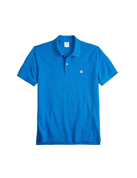 BROOKS BROTHERS Polo Slim Fit Azul Azul Claro S: Amazon.es: Ropa y ...