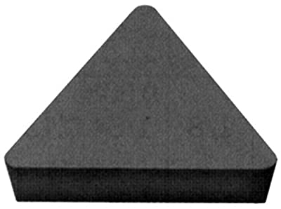 "Cobra Carbide 41252 Solid Carbide Turning Insert, C520 Grade, Uncoated (Bright) Finish, TPG Style, TPG 322, 1/8"" Thick, 1/32"" Radius (Pack of 10)"