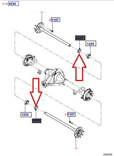 Motorcraft BRS-52 Rear Wheel Seal