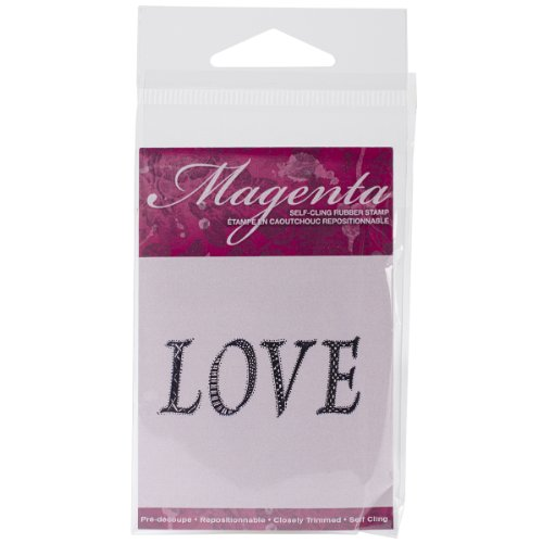 Magenta Cling Stamps, 1.5 by 2-Inch, ()