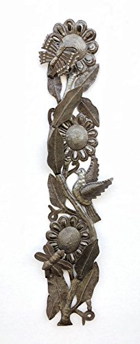 it's cactus - metal art haiti Buzzing with Flowers, Spring Flower Vine, Home Living Decor 6
