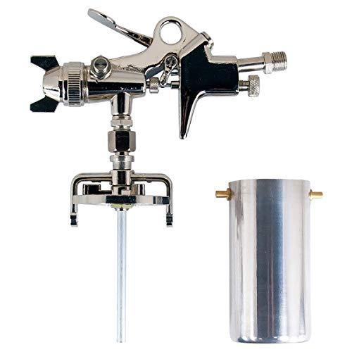 AES 산업 1.5 미리메터 노즐 사이펀 피드 터치 업 스프레이 건 및 8 온스 컵