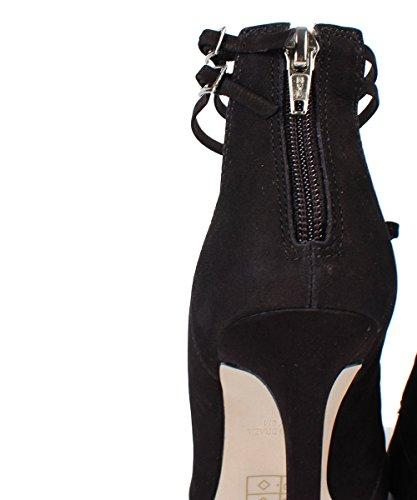 Steve Madden prazed Sandal–Sandalias negras ante con cintas negro