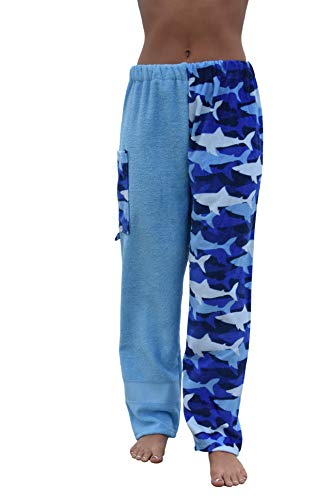 Towel Pants Towelwear Swimwear Resortwear - Cotton Terry Swim Sweat Pants - Sharks Pattern (Kids XL) (Nautical Sweatpants)