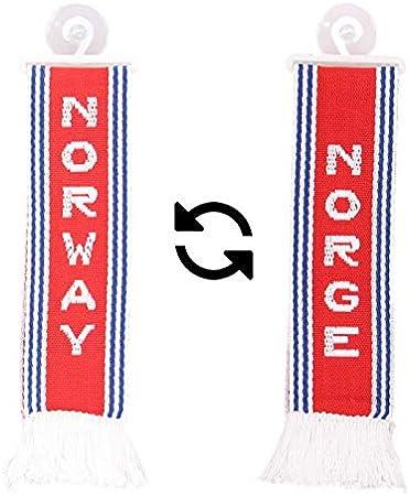 Amazon.es: TRUCK DUCK Camiones Auto Mini - Noruega Norway Mini - Banderín Bandera ventosa Espejo Decoración