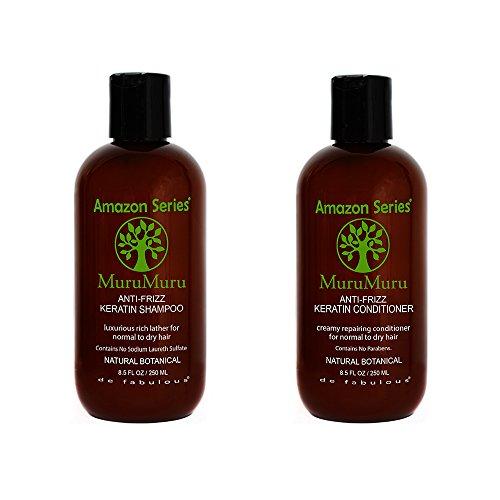 Amazon Series MuruMuru Anti-Frizz Keratin Shampoo & Conditioner 8.5 fl oz Set