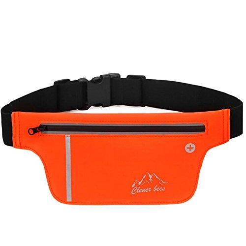 Wmshpeds Deportes ejecuta bolsillos cerca de hombres y mujeres paquete fitness cinta Maratón stealth teléfono bolsillos impermeables A