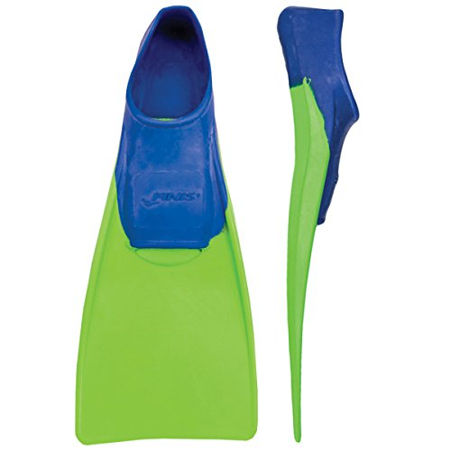 FINIS Long Floating Fins , Blue/Lime Green, XXXS (Jr. 8-11) ()
