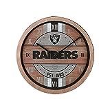 FOCO Oakland Raiders NFL Barrel Wall Clock