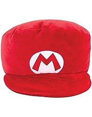 TOMY Club MOCCHI MOCCHI Nintendo Mario Kart-Peluche Gorra roja de Mario 40 cm T12961, Peluche Nintendo Super Mario, Grande Peluche Infantil y Adulto, Regalo de cumpleaños Ideal para Fans de Mario